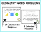 Common Core Constructed Response Problems - 3rd Grade Geom