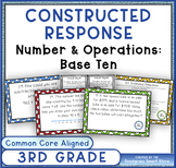 Math Constructed Response Word Problems: 3rd Numbers/Opera
