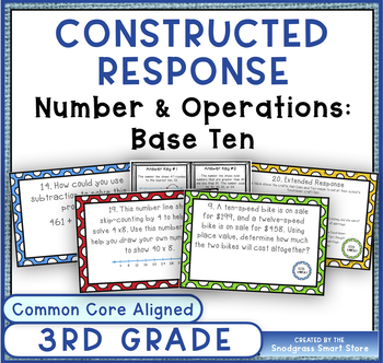 Common Core Constructed Response Problems - 3rd Grade Numb