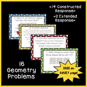 Math Constructed Response Word Problems: ALL 3rd Grade Standards