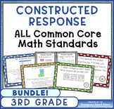 Math Constructed Response Word Problems BUNDLE: ALL 3rd Gr