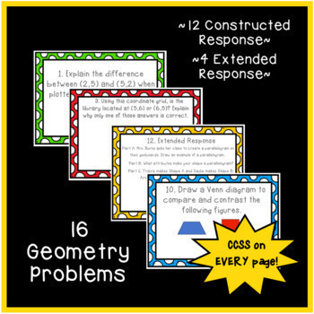 Common Core Constructed Response Word Problems - ALL 5th Grade Math Standards