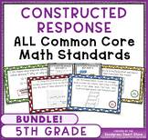 Math Constructed Response Word Problems BUNDLE: ALL 5th Gr