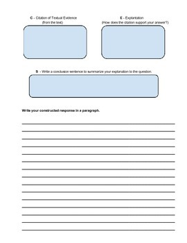 Constructed Response Process Writing using RACES Strategy