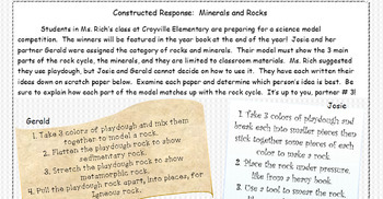 Constructed Response: Rock Cycle