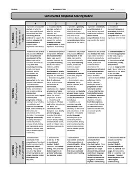Constructed Response Rubric