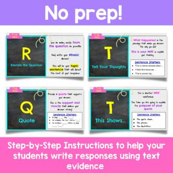 Constructed Response Strategy for Middle School