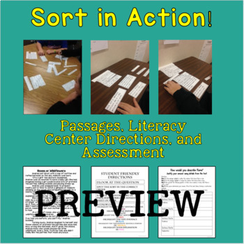 Constructed Response Sorts, Passages, and Assessment