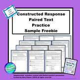 Constructed Response With Text Evidence Paired Text Sample