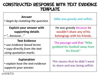 Constructed Response with Text Evidence