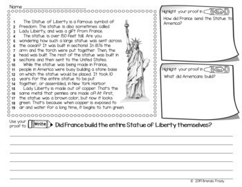 Constructed Response Passages with Text Evidence SOCIAL STUDIES  *BIG BUNDLE*