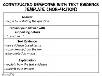 Constructed Response with Text Evidence (Non-Fiction)