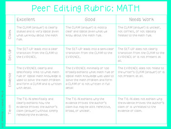Constructed Writing in MATH