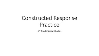 Constructed response practice Europe environment and geography