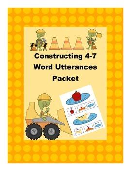Constructing 4 word sentences packet