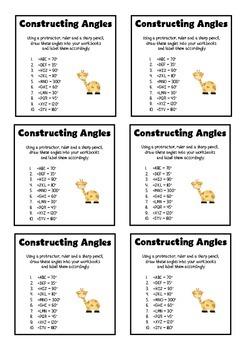 Constructing Angles