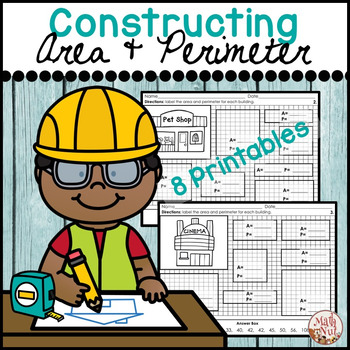 "Constructing Area and Perimeter ""Area and Perimeter Worksheets"""