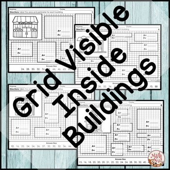 "Area and Perimeter Worksheets ""Construction Theme"""