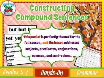 Constructing Compound Sentences {Interactive Sentence Strip Lesson}