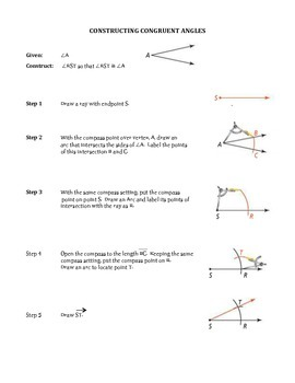 Constructing Congruent Segments and Angles