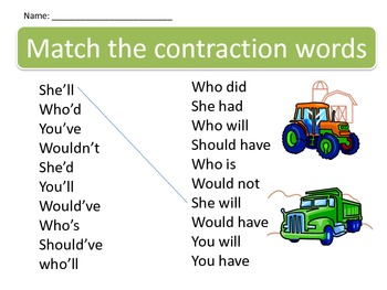 Constructing Contraction Words