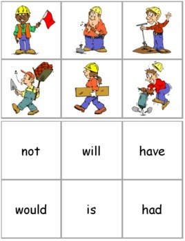 Constructing Contractions Activity Cards