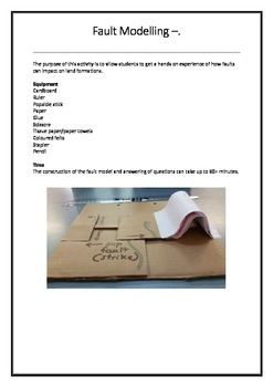 Constructing a Fault Line - working model with question sheet