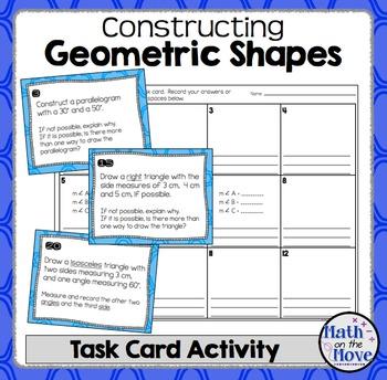 Constructing Geometric Shapes (Focusing on Triangles) - Ta