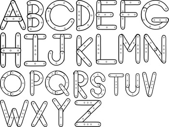 Constructing Letters Template and Alphabet