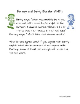 Expressing Mathematical Reasoning with Barney and Betty Blunder