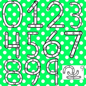 Constructing Numbers Clip Art