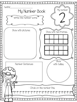 Number Book (Making Numbers 1-20)
