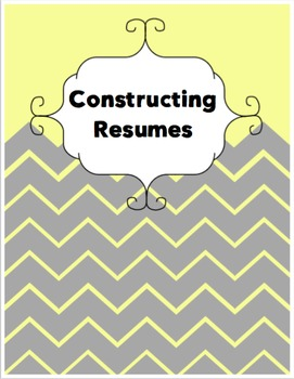 Constructing Resumes Lesson