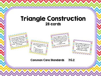 Constructing SAS, AAA, and SSS Triangles Task Cards