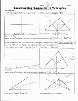 Constructing Segments in Triangles