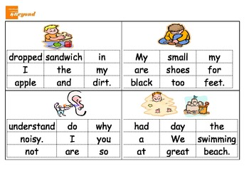 Constructing Sentences - reading literacy groups - HFW and CVC words