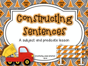 Subject and Predicate Construction Presentation