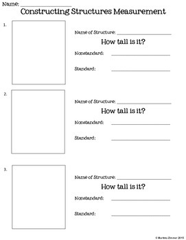 Constructing Structures FREE Recording Sheet