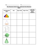 Constructing Three-Dimensioanl Figures Graphic Organizer/Notes
