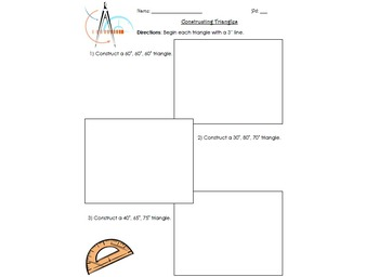 Constructing Triangles Activity