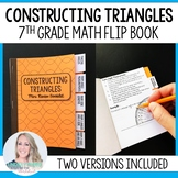 Constructing Triangles Mini Tabbed Flip Book for 7th Grade Math