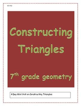 Constructing Triangles - Mini Unit