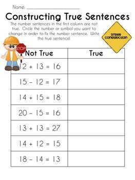 Constructing True Number Sentences