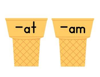 Constructing Word Families (-at, -am, -an) with Ice Cream Cones