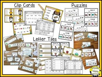Constructing Words Bundle ~ CCVC and CVCC Phonics Station