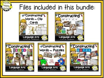 Constructing Words Bundle ~ CVCe Phonics Station