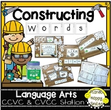 "Constructing Words CCVC & CVCC Phonics Station ~ 1"" Letter Tiles"