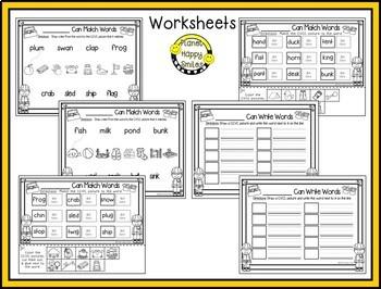Constructing Words CCVC & CVCC Phonics Station ~ Clip Cards