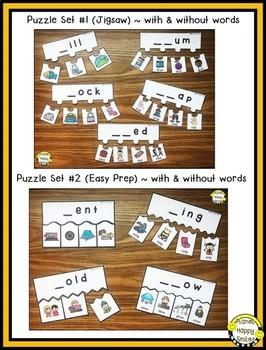 Constructing Words CCVC & CVCC Phonics Station ~ Puzzles