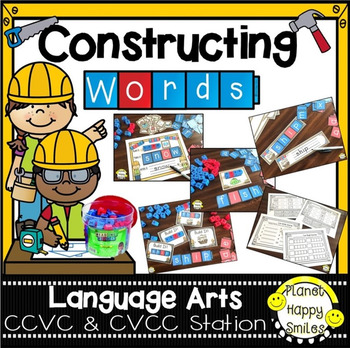 Constructing Words CCVC & CVCC Phonics Station ~ Reading Blocks